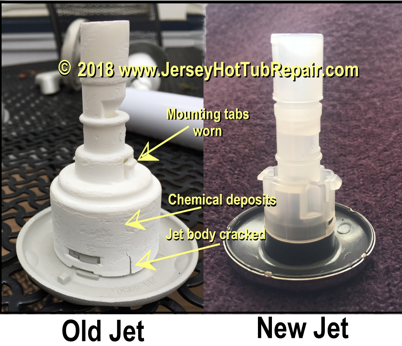 My Hot Tub Jets Are Popping Out Jersey Repair